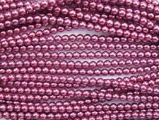 Blanco Cristal Checo Redondo Perlas-Cadena de cuentas 75-8mm