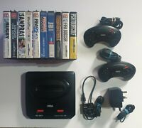 SEGA Mega Drive 2 Console sports bundle with 10 games, 2 controllers & cables