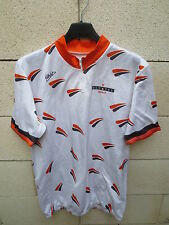 VINTAGE Maillot cycliste ALCATEL ESPACE blanc cyling shirt jersey collection L