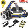6000Lm LED Headlight Torch  T6 Running Rechargeable Headlamp Head Light Lamp