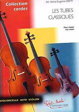 Les tubes classiques pour violon seul partition violon
