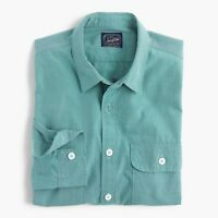 New J Crew Nailhead Workshirt Shirt Button Up Long Sleeve Turquoise NWT