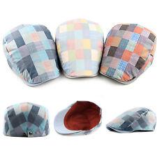 Baker Boy Gatsby Flat Cap Mens Colorful Plaid Handsome Newsboy Hat Warm Beret