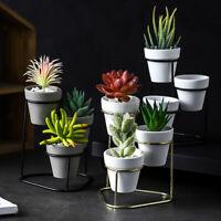 Flower Pot Stand Iron Metal Rack Garden Plant Display Shelf Holder Hanger