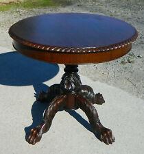 Mahogany Empire Revival Center Table~Lamp Table