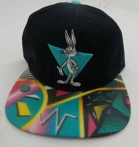 Looney Tunes Bugs Bunny Space Jam Snapback Baseball Hat Cap 3D Brim Retro Look