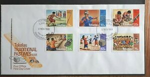 1983 Tokelau FDC - Full Set Of 6 Stamps - Traditional Pastimes