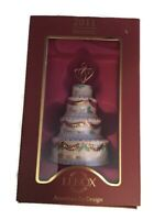 New 2011 Lenox Porcelain Our First Christmas Together Wedding Cake Ornament