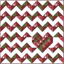 Quilt Kit/Valentine Heartbeats/Chevrons/Beautiful/Pre-cut Fabrics Ready To Sew