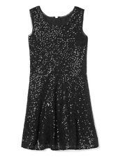 GAP GIRLS BLACK MOONLESS NIGHT SLEEVELESS SEQUIN TANK PARTY DRESS $68 SZ 10 BNWT