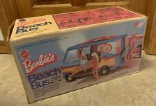 Vintage 1973 Barbie's Beach Bus In Original Box And Some Accessories