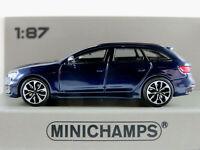 Minichamps 870 018211 Audi RS4 Avant (2018) in blaumetallic 1:87/H0 NEU/OVP