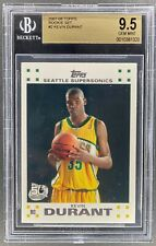 2007-08 TOPPS KEVIN DURANT ROOKIE CARD #2 BGS 9.5 GEM MINT [MS]
