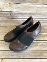 Wolky Heels Size US 8.5-9 EUR 40 Womens Brown Comfort Shoes Career Pull On
