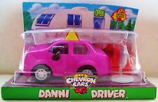 New Collectible Pink Plastic Lady Car With Eyes Toy Chevron Danni Driver 1998
