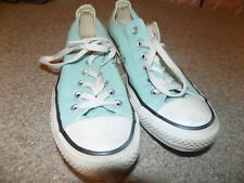 CONVERSE ALL STAR LIGHT BLUE MENS SIZE 6 WOMENS SIZE 8 LOW TOP ATHLETIC SHOES