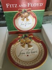 Fitz and Floyd Cookie Plate Platter From The Heart Christmas Holiday