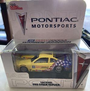 NHRA Racing Champions Warren Johnson 2005 Pontiac Pro Stock Replica 1/64 NIB