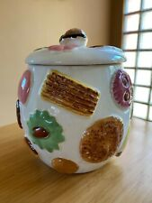 Vintage Napco Wear Japan Cookie Jar, Cookies All Over Walnut Knob