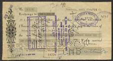BILL OF EXCHANGE UNION CREDIT & TRUCT CO. TIENTSIN CHINA CORN EXCHANGE 1940