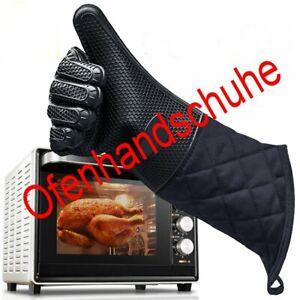 Silikon Baumwolle Ofenhandschuhe Handschuhe Backofen Mikrowelle Küche HS11