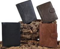 Herren Brieftasche, Geldbeutel, Geldbörse, Portemonnaie, Wallet, Kunst-Leder