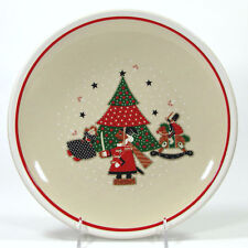 "Noritake Epoch HOLIDAY JOY 10.25"" Dinner Plate 8200 Mint Christmas Tree Vtg 1980"