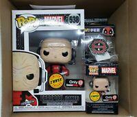 Funko Pop Marvel Deadpool Gamer #538 Chase GameStop Exc Box DAMAGED POP Full Set