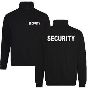 SECURITY 1/4 Zip Sweatshirt Pullover verschiedene Shirtfarben / Druckfarben
