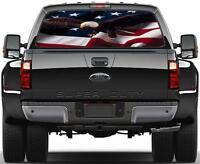 American Eagle Flag Rear Window Graphic Decal Sticker Car Truck SUV Van USA 269