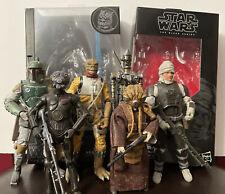 Star wars black series Bounty hunter Dengar Bossk Boba Fett IG-88 4-Lom Zuckuss