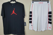 NIKE JORDAN VI RETRO 6 OUTFIT SHIRT + SHORTS BLACK INFRARED WHITE RARE (SIZE XL)