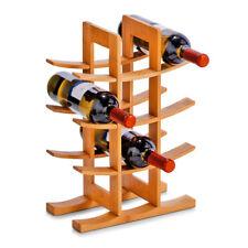 Étagère à vin meuble en bambou bouteilles support porte-bouteille