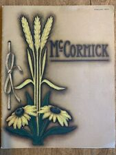 McCormick Line Farm Machinery Tool Implement Catalog International Harvester Co.