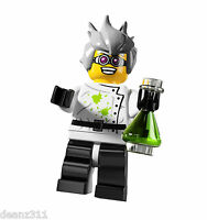 LEGO Series 4 Minifigures - #16 CRAZY (MAD) SCIENTIST - 8804 Minifig - NEW