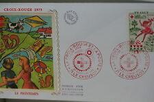 ENVELOPPE PREMIER JOUR SOIE 1975 CROIX-ROUGE PRINTEMPS