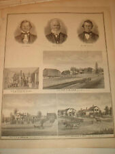 ELBA GENESEE COUNTY NEW YORK ANTIQUE PRINT RARE EARLY N