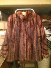 Manteau en fourrure marron *