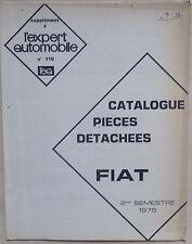 #) L'EXPERT AUTOMOBILE catalogue des pièces détachées FIAT - 1975