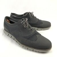 Cole Haan Zerogrand Mesh Wingtip Oxford Mens 10.5 Gray Shoes