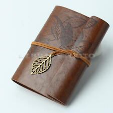 Cuir PU Agenda Bloc-notes Carnet Cahier Mémo Notebook à cordon chaîne Journal