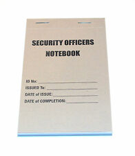 SECURITY OFFICERS NOTEBOOK, Police, Door Supervisor, Note Book, Emergency,Rescue