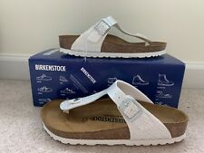 Birkenstock Gizeh Birko Sandals - Magic Snake White Size EUR 37 / US 6 - 6.5