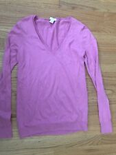 Jcrew Cotton Pink Vneck Sweater XS