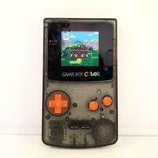 Nintendo Game Boy Color (GBC) Console: Black Custom Re-Shell & LCD Backlight Mod