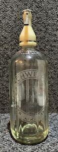 Schweppes Soda water syphon vintage bottle 30 Fluid oz