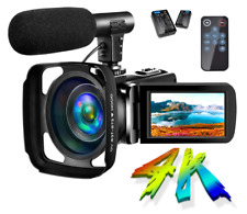 4K Camcorder Vlogging Video Camera 48Mp Ultra Hd Wifi 30Fps Digital Zoom
