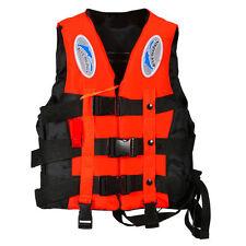 Adult Kids Life Jacket Vest Whistle Polyester Foam Swimming Boating Sailing Safe