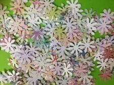100 MINIATURE PAPER DAISY FLOWER CARD MAKING SCRAPBOOKING CRAFT EMBELLISHMENTS