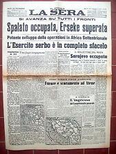 1941 GUERRA IN YOGOSLAVIA GRECIA E ALBANIA. SPALATO, SERBIA, ATENE, ERSEKE....